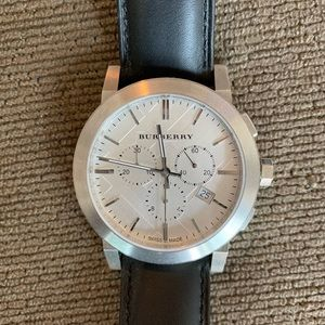 Burberry men's leather watch